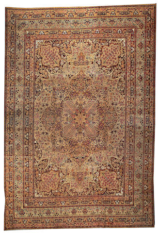 A Lavar Kerman carpet South Central Persia size approximately 10ft. x 14ft. 6in.