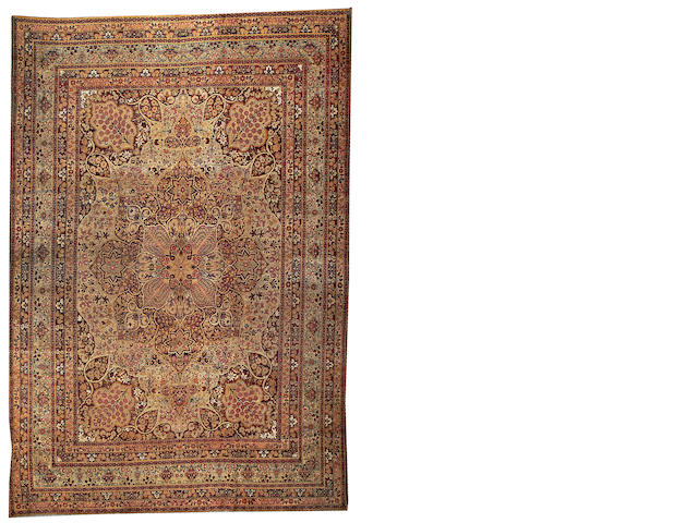 A Lavar Kerman carpet South Central Persia, size approximately 9ft. x 12ft.