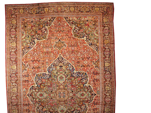 A Fereghan Sarouk carpet Central Persia, size approximately 14ft. 4in. x 22ft. 9in.