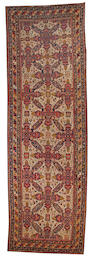 A Samarkand carpet Uzbekistan, size approximately 6ft. 5in. x 20ft. 2in.