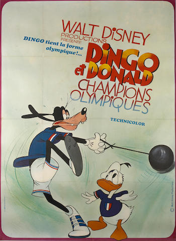 Artist Unknown; (20th century) Walt Disney, Dingo & Donald Championship Olympics;