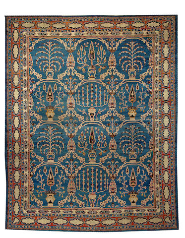 An Agra carpet India size approximately 9ft. 10in. x 12ft. 4in.
