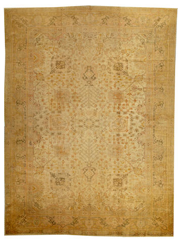 An Oushak carpet West Anatolia size approximately 11ft. x 14ft. 10in.