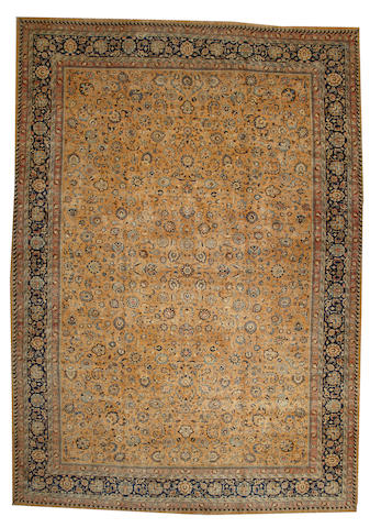 A Meshed carpet  Northeast Persia size approximately 13ft. 2in. x 18ft. 10in.