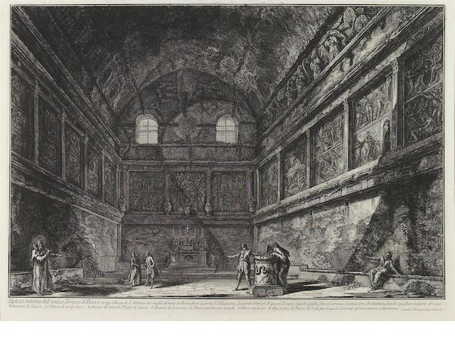 Giovanni Battista Piranesi (Italian, 1720-1778); Veduta interna dell'antico Tempio di Bacco..., from Vedute di Roma;