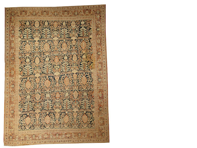 A Tabriz carpet Northwest Persia size approximately 9ft. x 12ft.