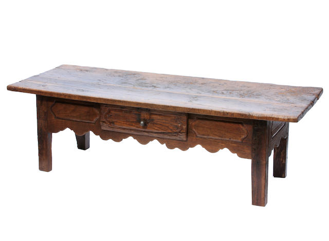 A Louis XV style mixed wood coffee table