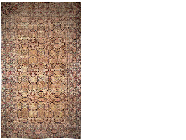 A Lavar Kerman carpet  South Central Persia size approximately 10ft. x 17ft.