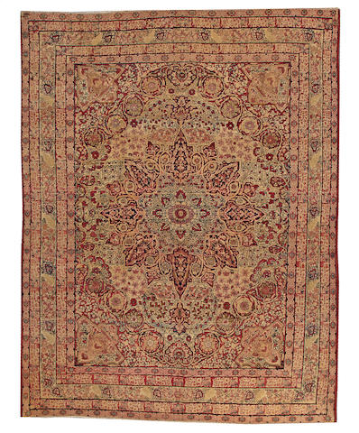 A Lavar Kerman carpet South Central Persia size approximately 8ft. 5in. x 10ft. 10in.