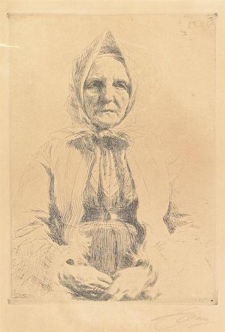 Anders Zorn (Swedish, 1860-1920); Mona;