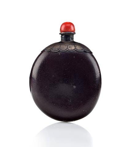 A seed pod snuff bottle  19th century