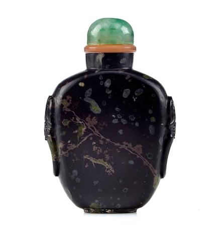 A puddingstone snuff bottle 1900-1940