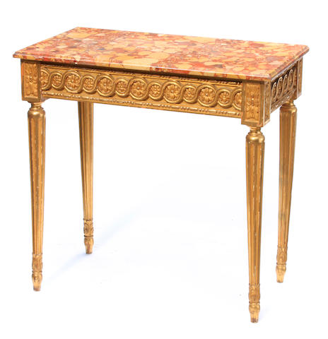 An Italian Neoclassical style giltwood side table