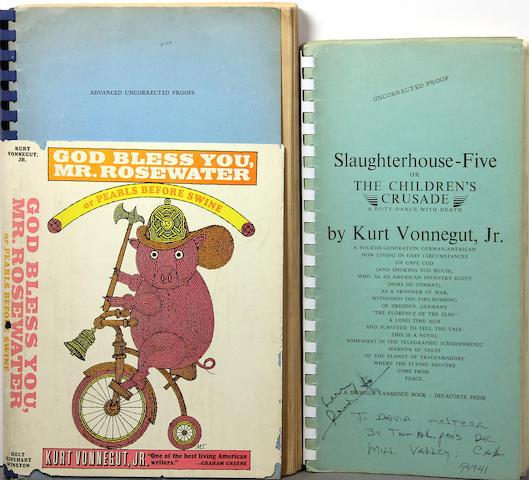 VONNEGUT, KURT, JR. 1922-2007.