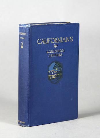 JEFFERS, ROBINSON. 1887-1962. Californians. New York: The Macmillan Company, 1916.