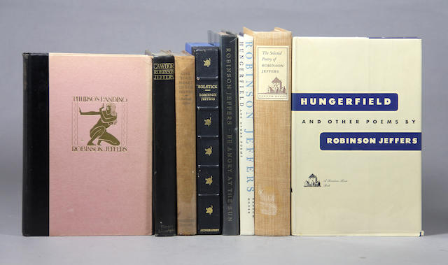 JEFFERS, ROBINSON. 1887-1962. 8 volumes, each signed and inscribed: