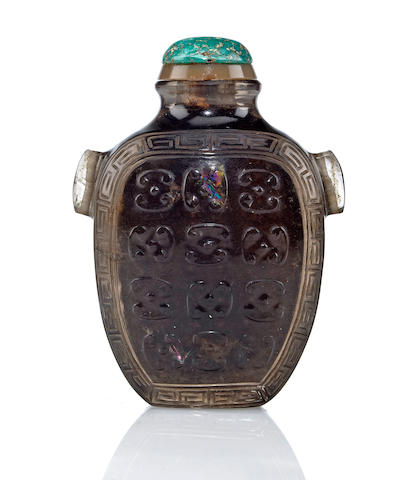 A carved crystal snuff bottle 1820-1880