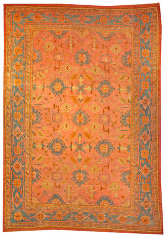 An Oushak carpet  West Anatolia size approximately 11ft. 10in. x 16ft. 10in.