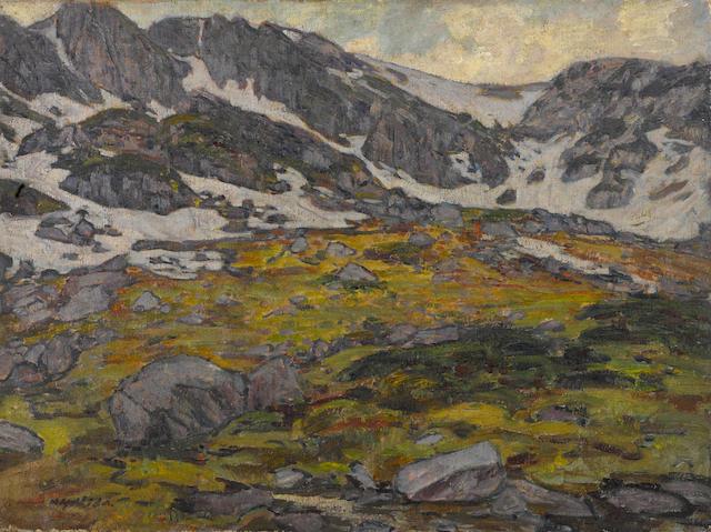 Yoshida Hiroshi (1876-1950) Takayama no ishihara (Rocky plain at Takayama)