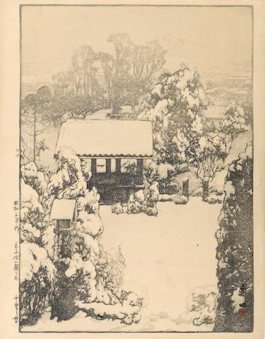 Yoshida Hiroshi (1876-1950) Snow in Nakazato