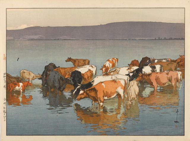 Yoshida Hiroshi (1876-1950) Noon-day's Rest, Numazaki