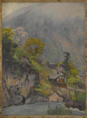 Hiroshi Yoshida (1876-1950) A mountain village in spring