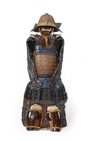 A partial set of tosei gusoku armour Late Edo period