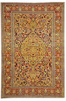 An Isphahan rug South Central Persia size approximately 5ft. x 7ft.