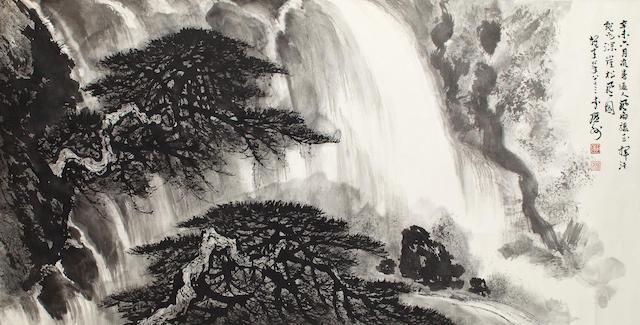 Li Xiongcai Pine and Waterfall