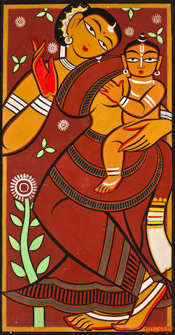 A Jamini Roy, Mother and child