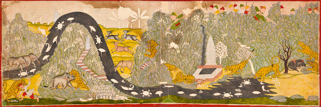 Tiger hunt Rajasthan, probably Kotah, 19th century