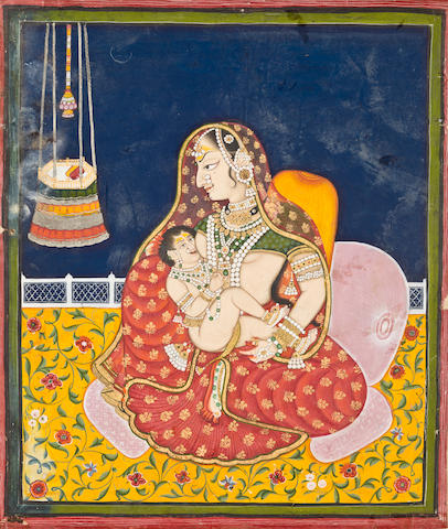 Mother and child Kota or Nathdwara, circa 1830