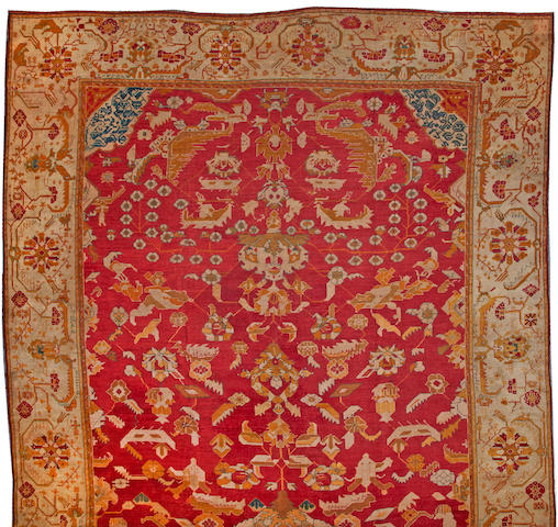 An Oushak carpet  West Anatolia size approximately 14ft. 1in. x 20ft.