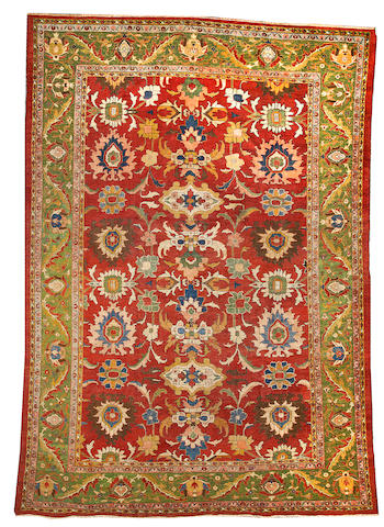 A Sultanabad carpet  Central Persia size approximately 9ft. 8in. x 14ft.