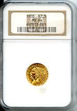 1908 $2.5 MS64 NGC