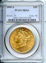 1885-S $20 MS63 PCGS