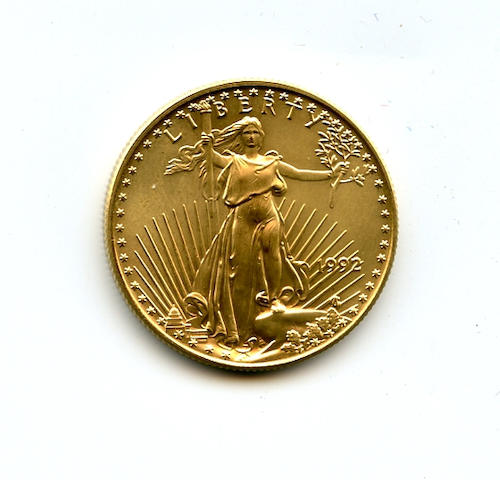1992 $25 American Gold Eagle