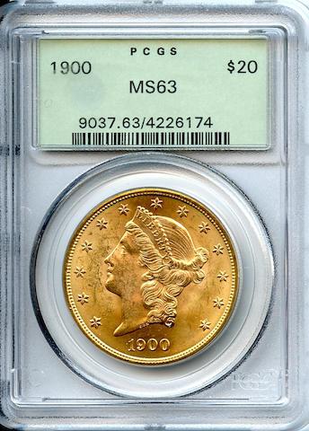 1900 $20 MS63 PCGS
