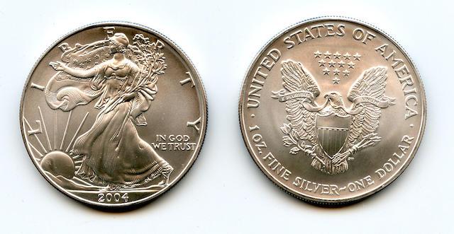 2004 $1 Silver Eagles (20)
