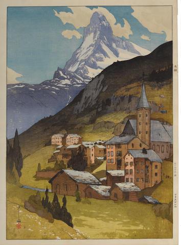 Yoshida Hiroshi (1876-1950) Matterhorn