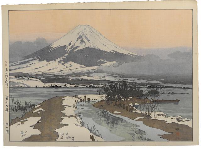 Yoshida Hiroshi (1876-1950) Fujiyama from Kawaguchi