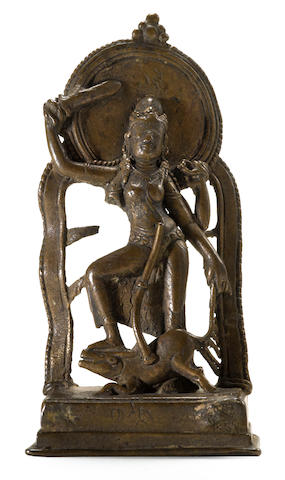 Durga Mahisasuramardini Bronze Probably Bangladesh circa 8th century