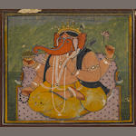 Nineteen devotional cards of the Vishnu avatars, opaque watercolor on paper, Jaipur, circa 1850