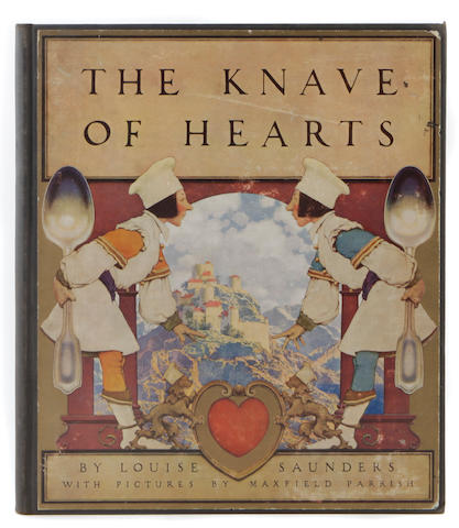 PARRISH, MAXFIELD, illus. SAUNDERS, LOUISE. The Knave of Hearts. New York: Charles Scribner's Sons, 1925.