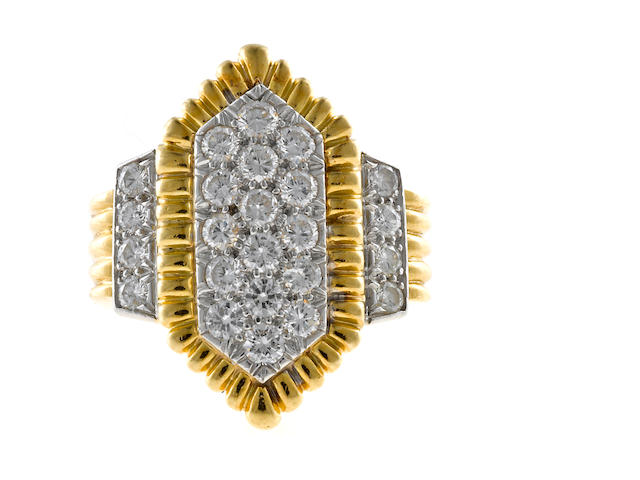 A diamond pavé-set ring, David Webb