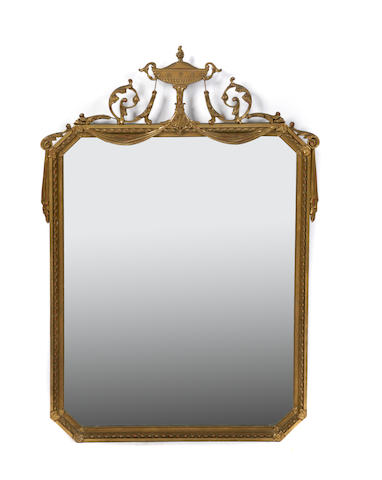 A pair of Neoclassical style giltwood mirrors