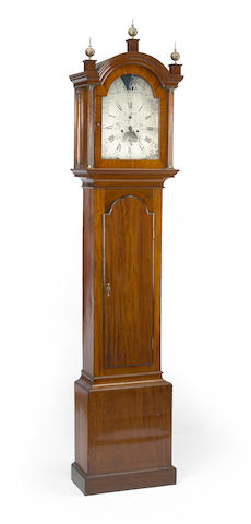 A George III mahogany tall case clock Thomas Templer, Portsmouth Common fourth quarter 18th century