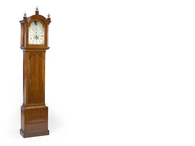 A George III mahogany tall case clock<BR />fourth quarter 18th century