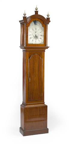 A George III mahogany tall case clock<BR />fourth quarter 18th century