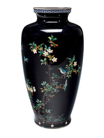 A cloisonné enamel vase Late 19th century